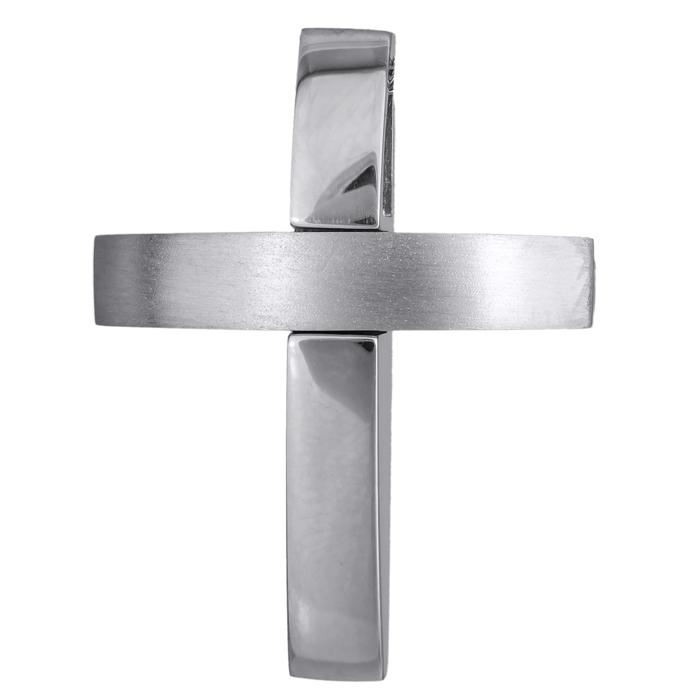 Σταυροί Βάπτισης - Αρραβώνα Λευκόχρυσος αντρικός σταυρός 14Κ 024559 024559 Ανδρικό Χρυσός 14 Καράτια