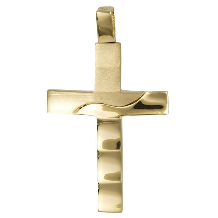 Σταυροί Βάπτισης - Αρραβώνα Χρυσός αντρικός σταυρός 14Κ 024581 024581 Ανδρικό Χρυσός 14 Καράτια