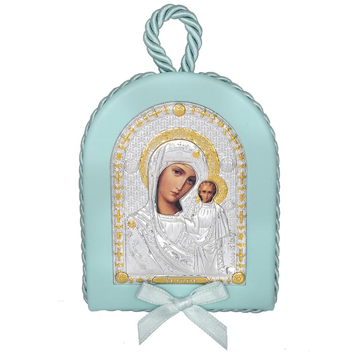 Σιέλ ασημένια εικόνα 925 με την Παναγία του Καζάν 024585 024585 Ασήμι