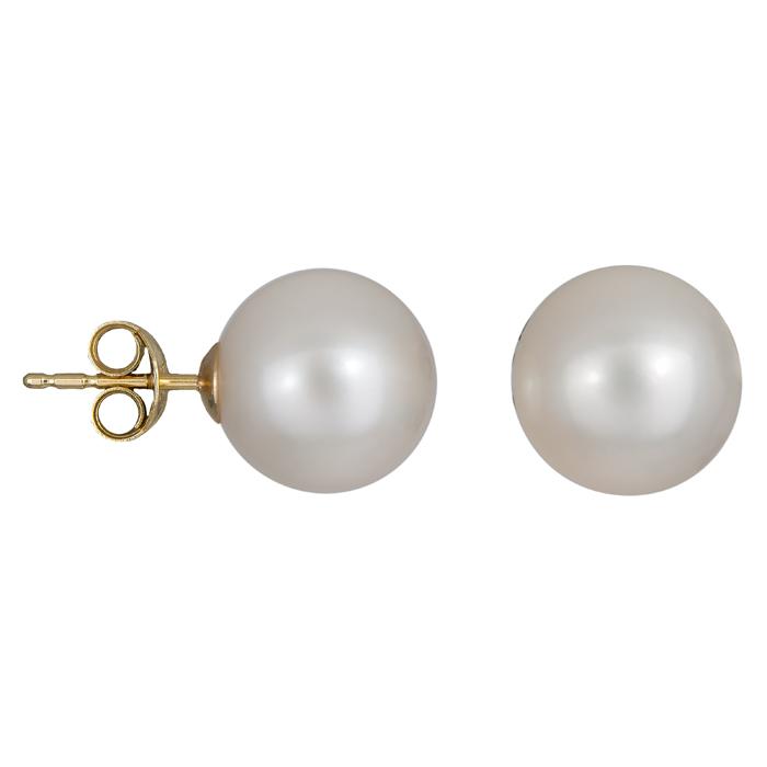 Χρυσά σκουλαρίκια με μαργαριτάρια 024591 024591 Χρυσός 14 Καράτια