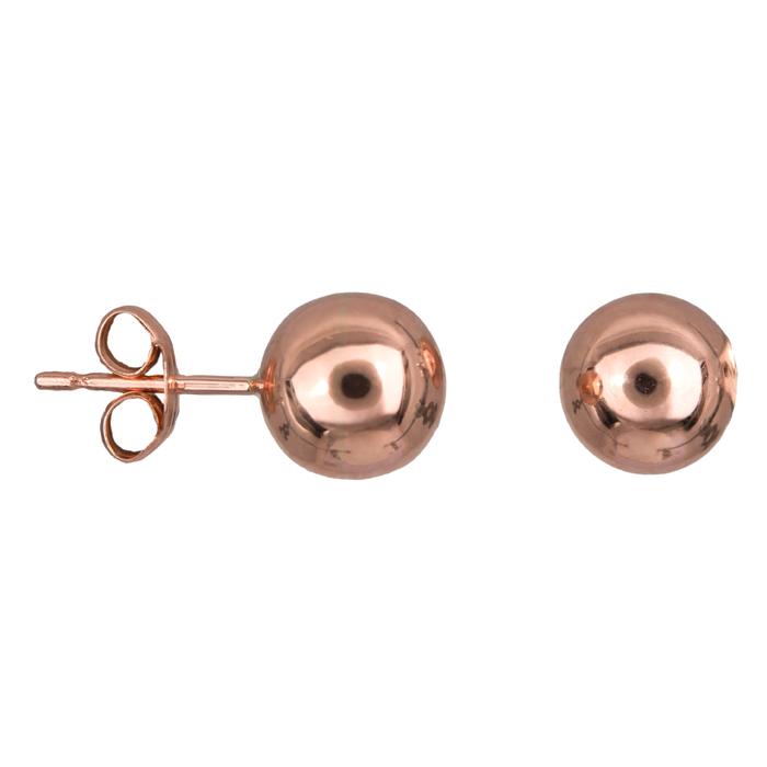 Ροζ gold σκουλαρίκια φούσκες Κ14 022594 024594 Χρυσός 14 Καράτια