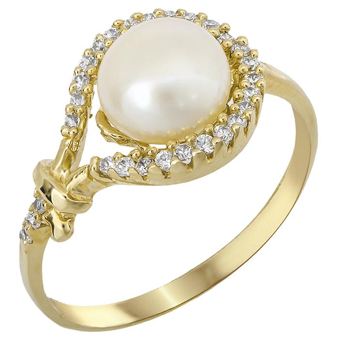Χρυσό δαχτυλίδι με μαργαριτάρι σε πετράτο κύκλο 14Κ 024623 024623 Χρυσός 14 Καράτια