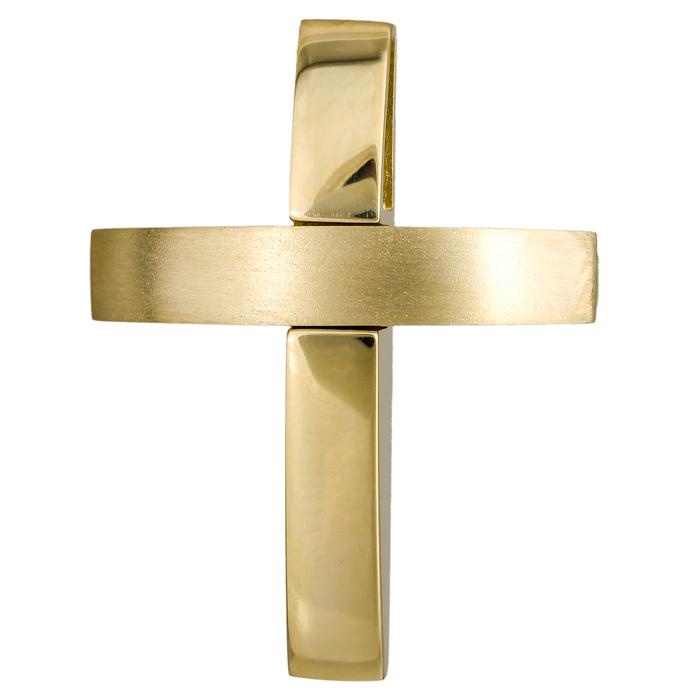 Σταυροί Βάπτισης - Αρραβώνα Χρυσός σταυρός βάπτισης 18Κ 024651 024651 Ανδρικό Χρυσός 18 Καράτια