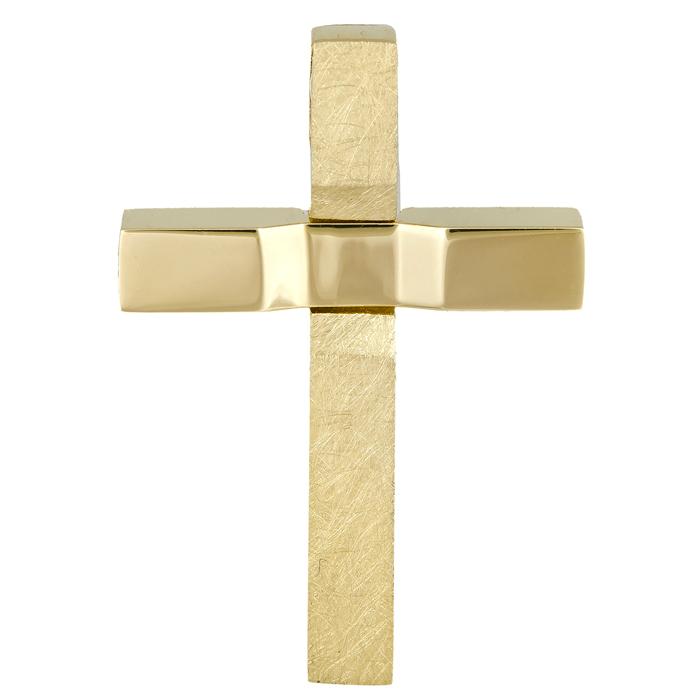 Σταυροί Βάπτισης - Αρραβώνα Αντρικός χρυσός σταυρός 14Κ 024656 024656 Ανδρικό Χρυσός 14 Καράτια