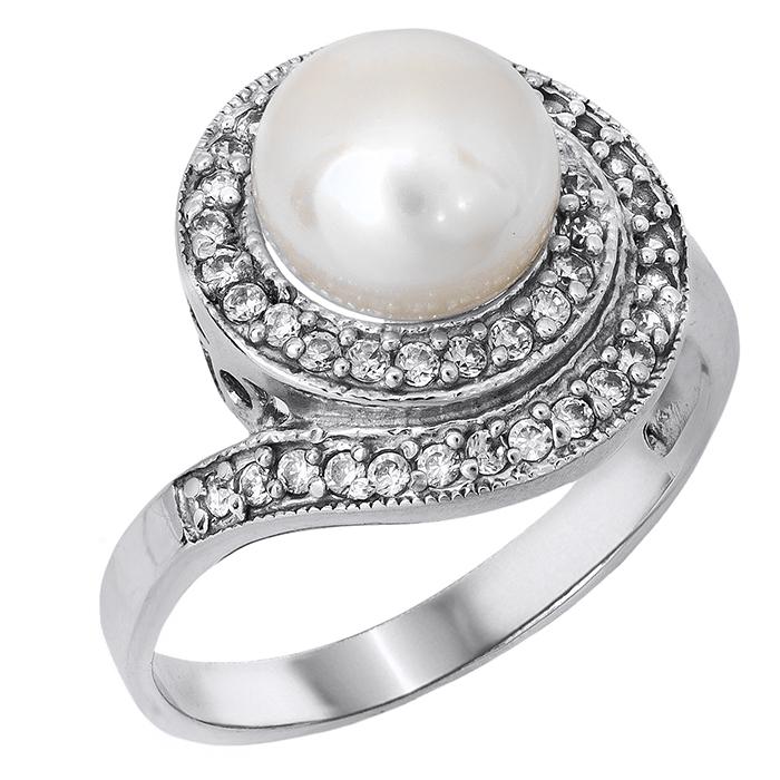 Γυναικείο δαχτυλίδι με μαργαριτάρι Κ14 024677 024677 Χρυσός 14 Καράτια