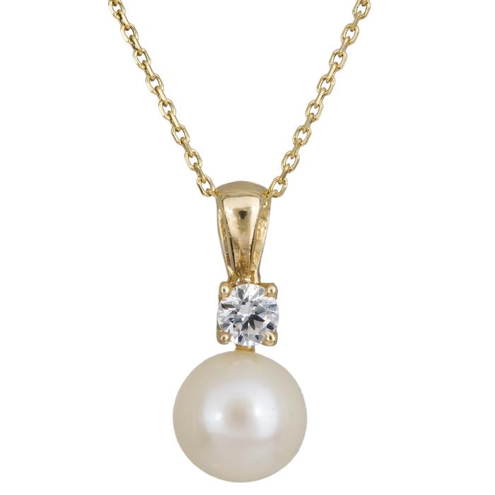 Χρυσό κολιέ με μαργαριτάρι Κ14 024685 024685 Χρυσός 14 Καράτια