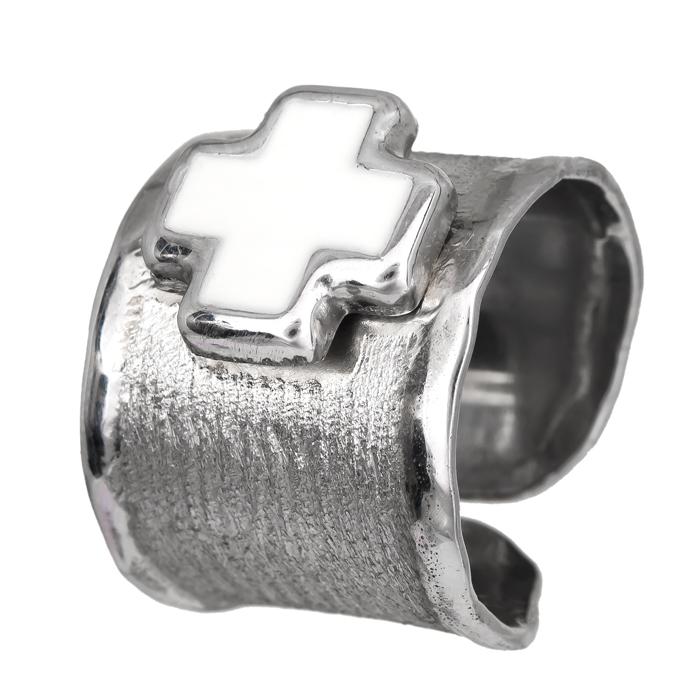 Σεβαλιέ δαχτυλίδι 925 με σταυρό 024687 024687 Ασήμι