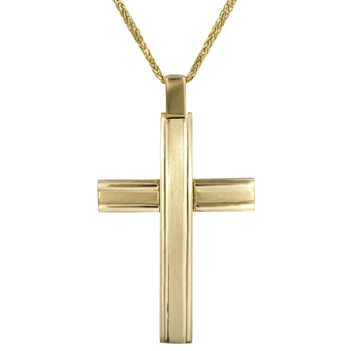 Βαπτιστικοί Σταυροί με Αλυσίδα Σταυρός βάπτισης Κ18 με αλυσίδα 14Κ 024696C 024696C Ανδρικό Χρυσός 18 Καράτια