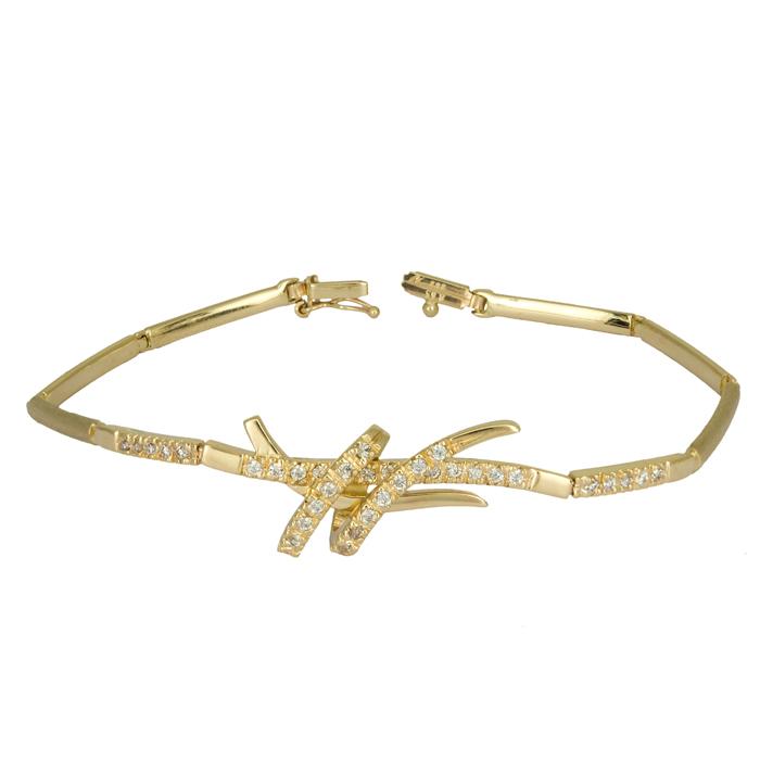 Χρυσό γυναικείο βραχιόλι Κ14 024725 024725 Χρυσός 14 Καράτια χρυσά κοσμήματα βραχιόλια