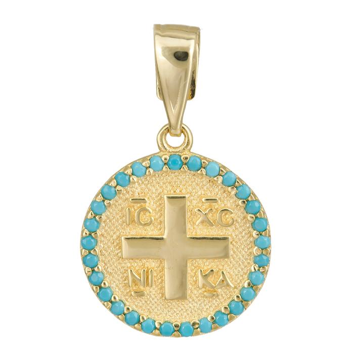 Κωνσταντινάτο - φυλαχτό για αγοράκι 14Κ 024744 024744 Χρυσός 14 Καράτια