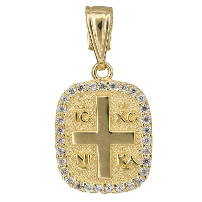 Κωνσταντινάτο με πέτρες ζιργκόν 14Κ 024745 024745 Χρυσός 14 Καράτια