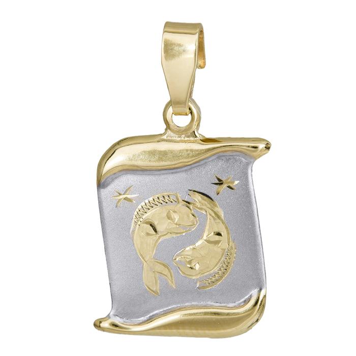 Δίχρωμο ζώδιο Ιχθύς Κ14 024775 024775 Χρυσός 14 Καράτια