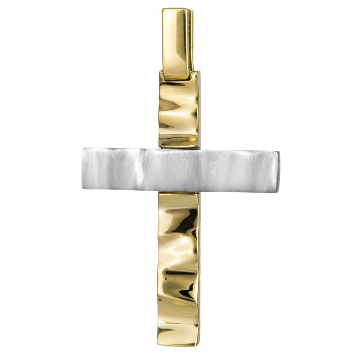 Σταυροί Βάπτισης - Αρραβώνα Χειροποίητος αντρικός σταυρός 14Κ 024801 024801 Ανδρικό Χρυσός 14 Καράτια