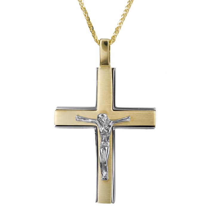 Βαπτιστικοί Σταυροί με Αλυσίδα Αντρικός σταυρός με αλυσίδα 024805C 024805C Ανδρικό Χρυσός 14 Καράτια