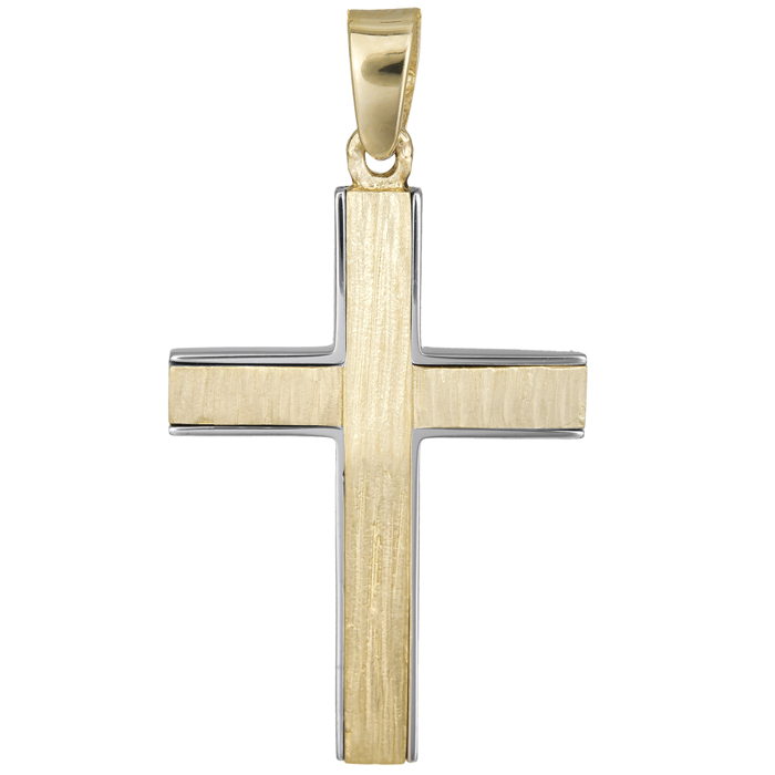 Σταυροί Βάπτισης - Αρραβώνα Αντρικός σταυρός διπλής όψης 14Κ 024811 024811 Ανδρικό Χρυσός 14 Καράτια