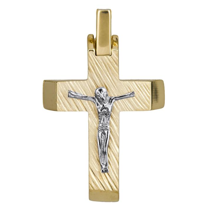 Σταυροί Βάπτισης - Αρραβώνα Ανδρικός σταυρός με τον Εσταυρωμένο 14Κ 024819 024819 Ανδρικό Χρυσός 14 Καράτια