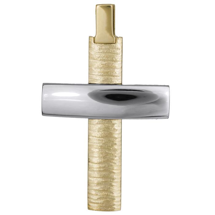 Σταυροί Βάπτισης - Αρραβώνα Αντρικός σταυρός 14Κ 024822 024822 Ανδρικό Χρυσός 14 Καράτια