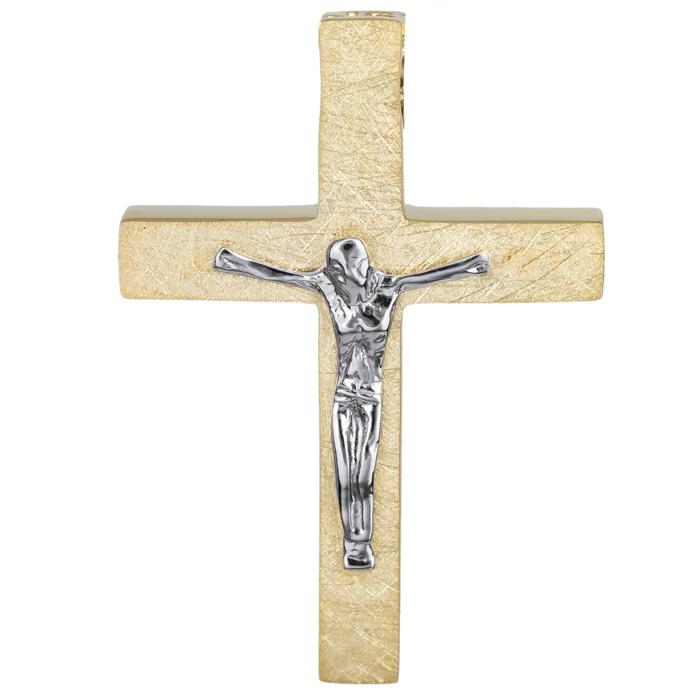 Σταυροί Βάπτισης - Αρραβώνα Κλασικός σταυρός βάπτισης Κ14 024826 024826 Ανδρικό Χρυσός 14 Καράτια