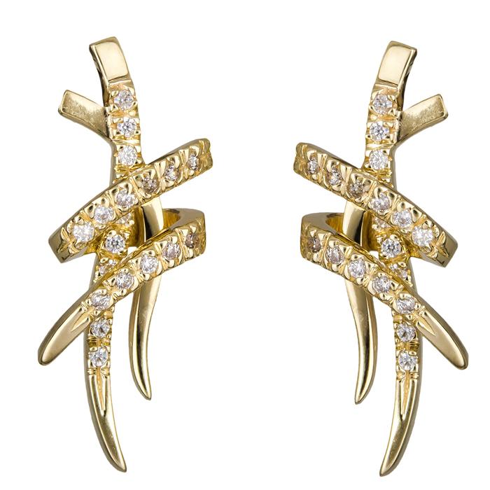Χρυσά σκουλαρίκια με πέτρες Κ14 024841 024841 Χρυσός 14 Καράτια