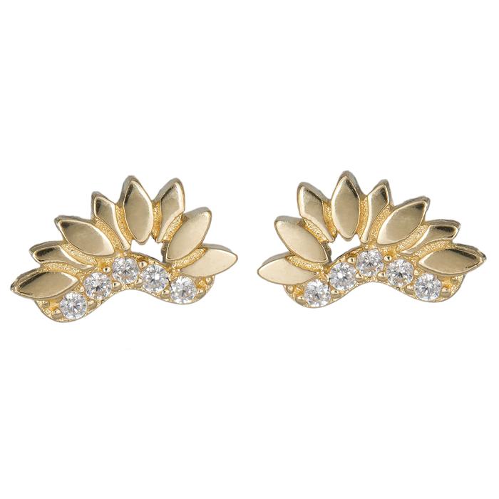 Χρυσά σκουλαρίκια με πέτρες Κ14 024848 024848 Χρυσός 14 Καράτια
