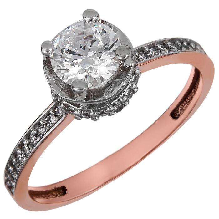 Ροζ gold μονόπετρο με πέτρες Κ14 024905 024905 Χρυσός 14 Καράτια χρυσά κοσμήματα δαχτυλίδια μονόπετρα
