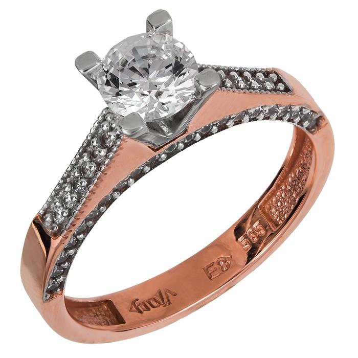 Δαχτυλίδι γάμου ροζ gold Κ14 024908 024908 Χρυσός 14 Καράτια