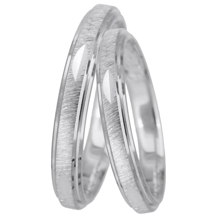 Βέρες γάμου ματ λευκόχρυσες Κ14 024923 024923 Χρυσός 14 Καράτια