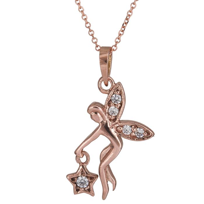 Ροζ gold κολιέ νεράιδα Κ14 024926 024926 Χρυσός 14 Καράτια