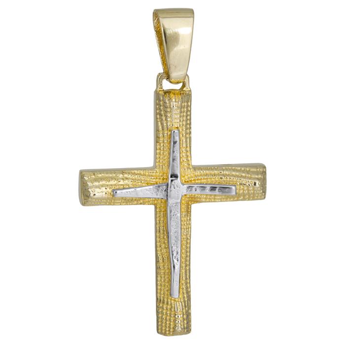 Σταυροί Βάπτισης - Αρραβώνα Ανδρικός σταυρός 14Κ 024973 024973 Ανδρικό Χρυσός 14 Καράτια