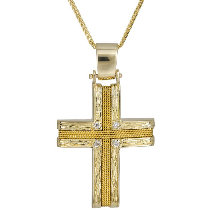 Βαπτιστικοί Σταυροί με Αλυσίδα Σταυρός βάπτισης με σύρμα 14Κ 024975C 024975C Γυναικείο Χρυσός 14 Καράτια