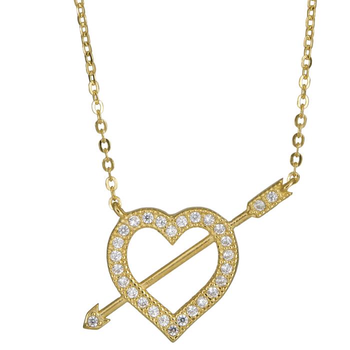 Χρυσό κολιέ καρδούλα Κ14 024999 024999 Χρυσός 14 Καράτια