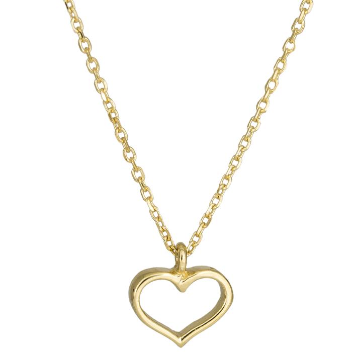 Κολιέ χρυσή καρδούλα Κ14 025011 025011 Χρυσός 14 Καράτια