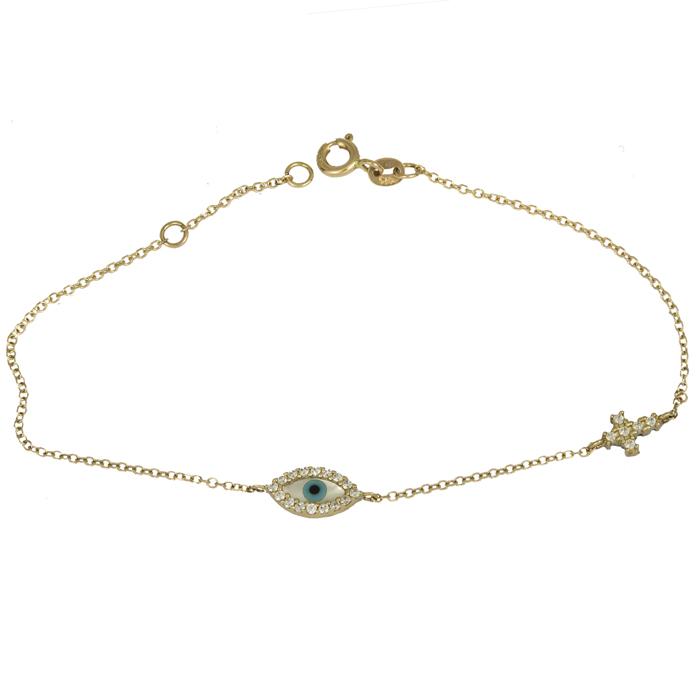 Γυναικείο χρυσό βραχιόλι Κ14 025019 025019 Χρυσός 14 Καράτια