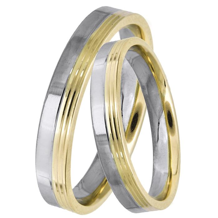 Δίχρωμες βέρες γάμου 14Κ 025030 025030 Χρυσός 14 Καράτια