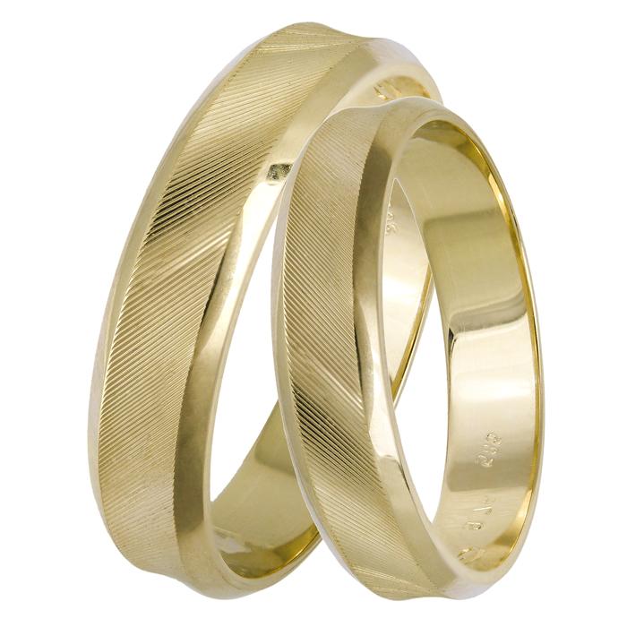 Βέρες γάμου χρυσές Κ14 ματ 025048 025048 Χρυσός 14 Καράτια