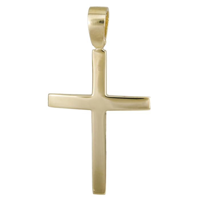 Σταυροί Βάπτισης - Αρραβώνα Αντρικός χρυσός σταυρός Κ14 025088 025088 Ανδρικό Χρυσός 14 Καράτια
