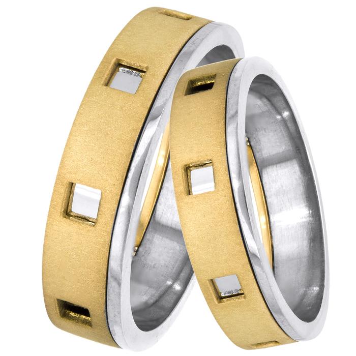Βέρες γάμου δίχρωμες 14Κ 025109 025109 Χρυσός 14 Καράτια