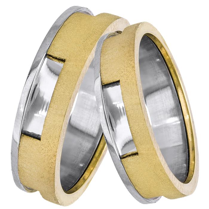 Δίχρωμες βέρες γάμου 14Κ 025110 025110 Χρυσός 14 Καράτια