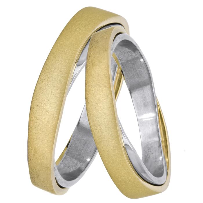 Βέρες γάμου δίχρωμες 14Κ 025118 025118 Χρυσός 14 Καράτια