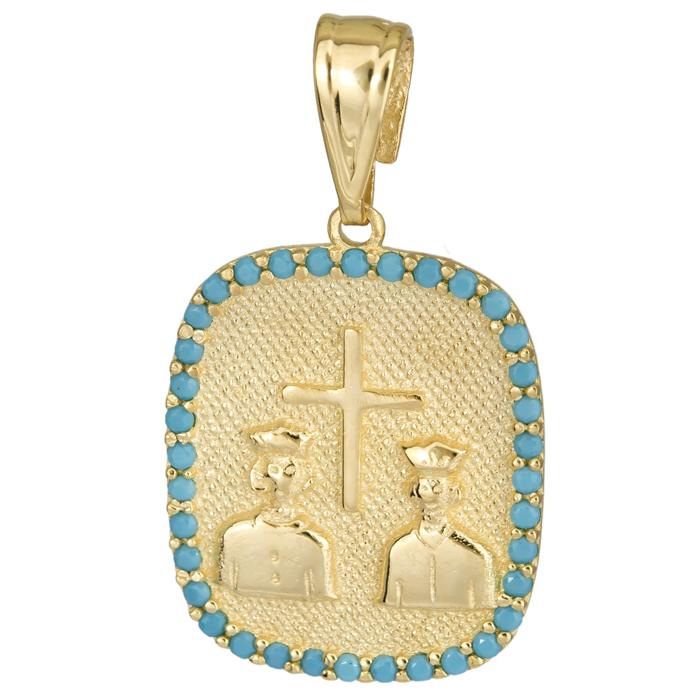 Κωνσταντινάτο παιδικό τυρκουάζ 14Κ 025171 025171 Χρυσός 14 Καράτια