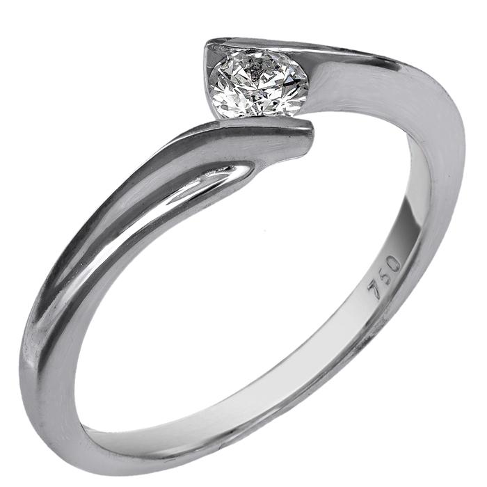 Μονόπετρο δαχτυλίδι με μπριγιάν Κ18 025243 025243 Χρυσός 18 Καράτια