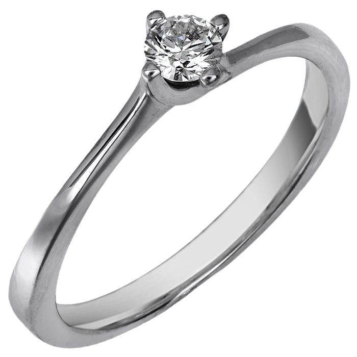 Λευκόχρυσο μονόπετρο με διαμάντι Κ18 025244 025244 Χρυσός 18 Καράτια