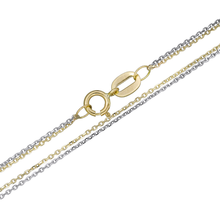 Τριπλή αλυσίδα λαιμού Κ14 025249 025249 Χρυσός 14 Καράτια χρυσά κοσμήματα αλυσίδες   καδένες