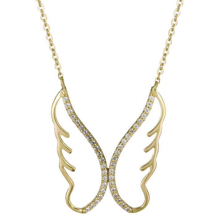 Γυναικείο κολιέ φτερά 14Κ 025306 025306 Χρυσός 14 Καράτια