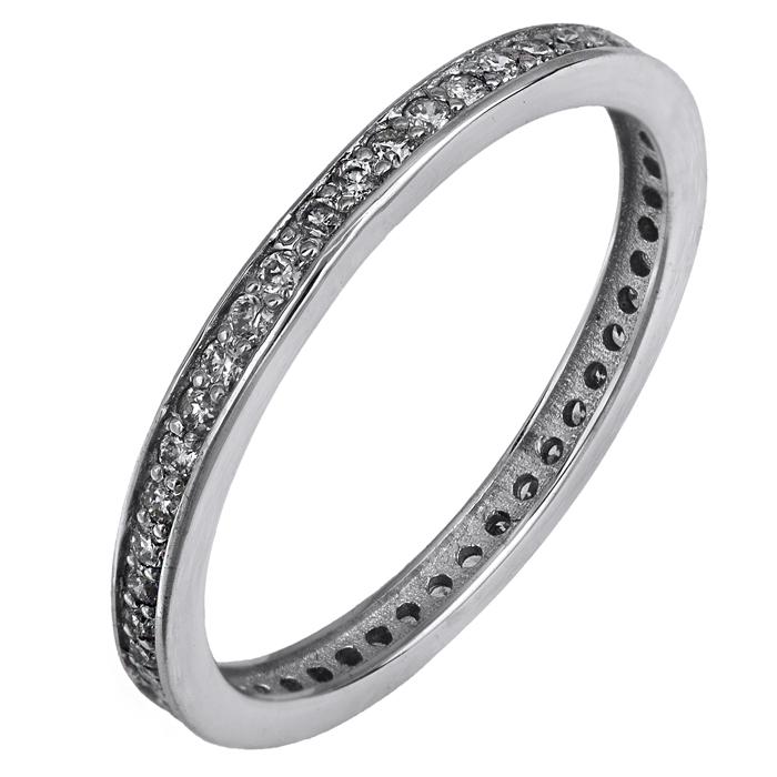Ολόβερο δαχτυλίδι με διαμάντια Κ18 025337 025337 Χρυσός 18 Καράτια