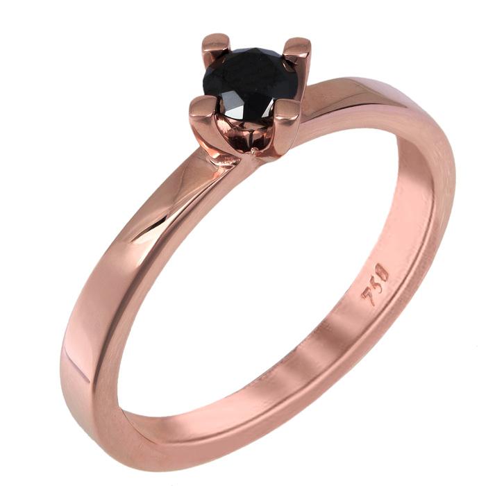 Ροζ gold μονόπετρο Κ18 025341 025341 Χρυσός 18 Καράτια