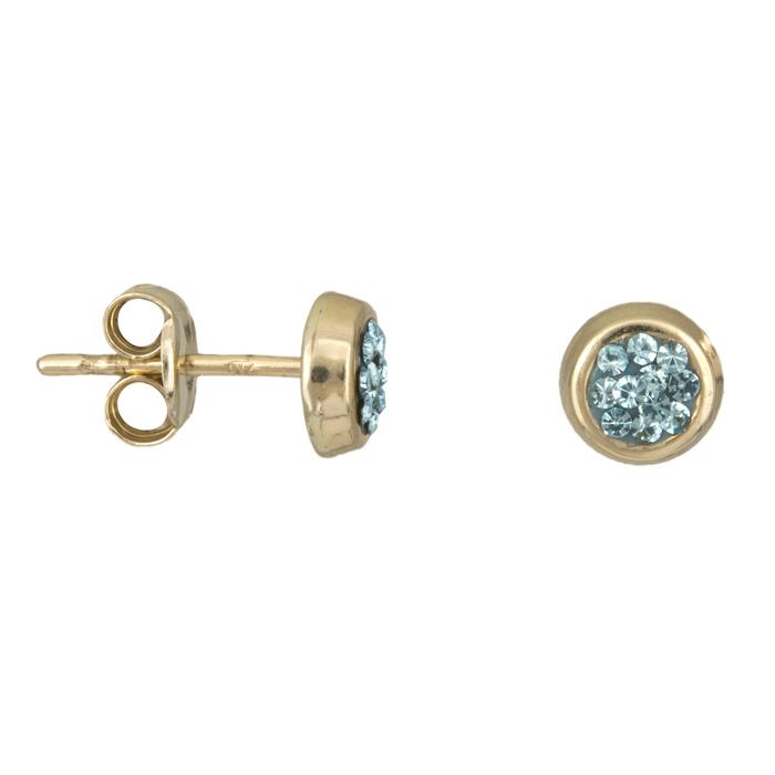 Παιδικά σκουλαρίκια με πέτρες Κ9 025495 025495 Χρυσός 9 Καράτια