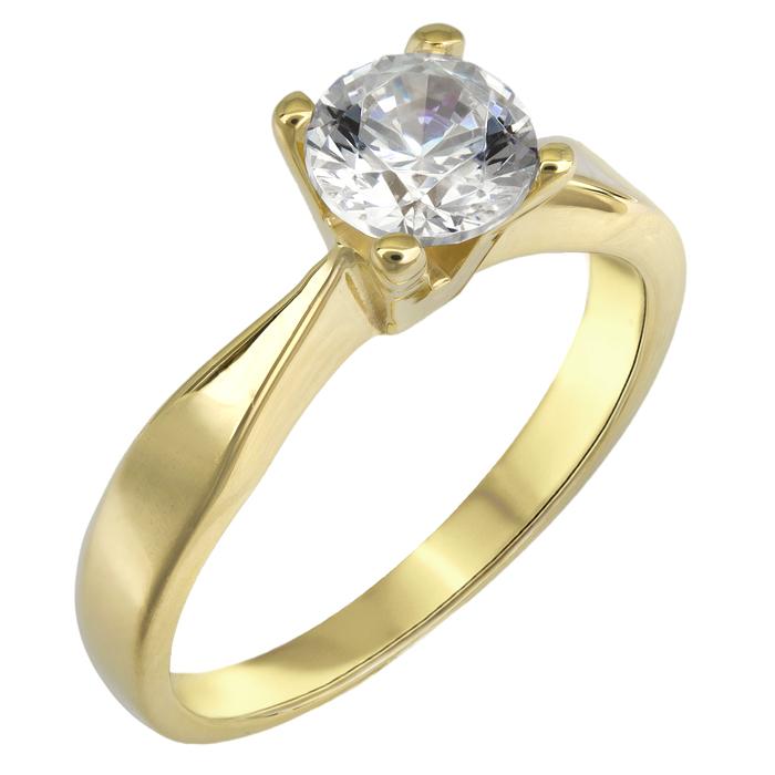 Μονόπετρο swarovski για πρόταση γάμου χρυσό Κ14 025523 025523 Χρυσός 14 Καράτια