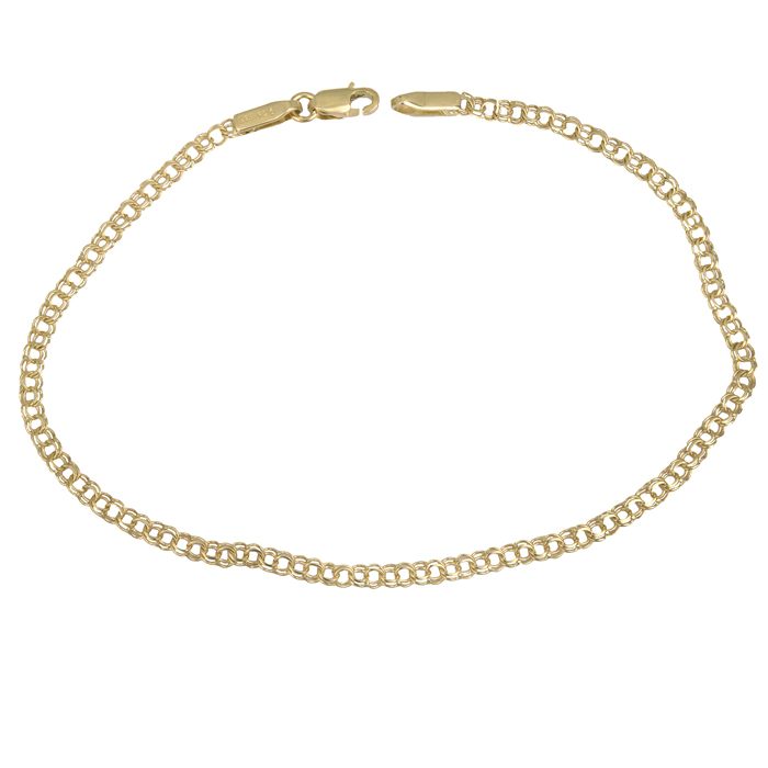 Χρυσή αλυσίδα χεριού με διπλό κρίκο Κ14 025535 025535 Χρυσός 14 Καράτια