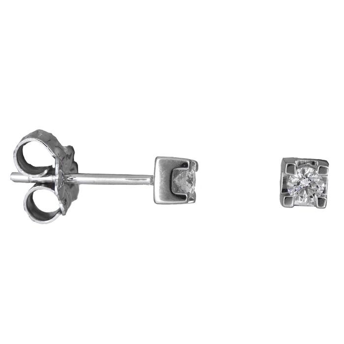 Λευκόχρυσα σκουλαρίκια με διαμάντια Κ18 025552 025552 Χρυσός 18 Καράτια χρυσά κοσμήματα σκουλαρίκια καρφωτά